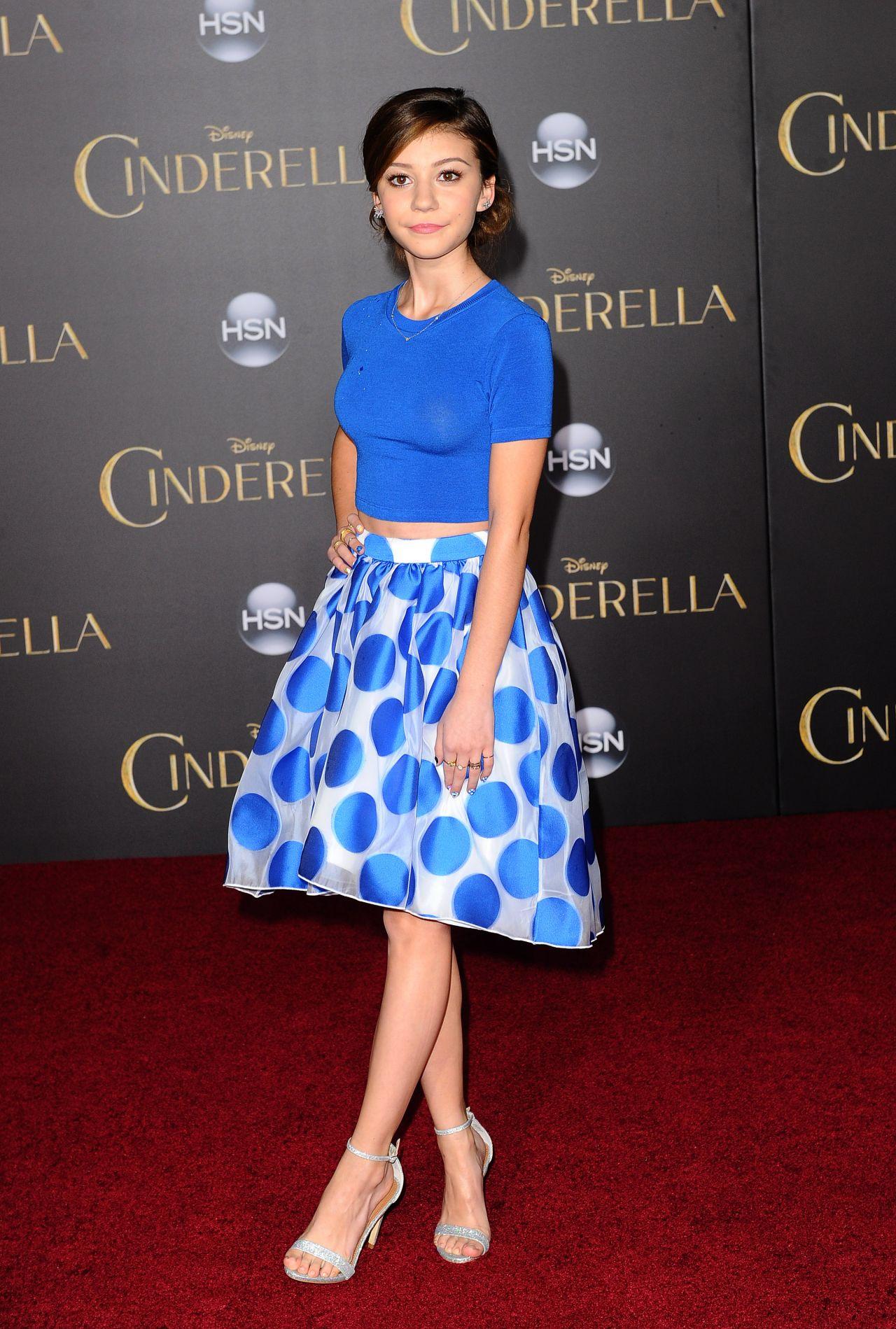 Genevieve Hannelius Disney S Cinderella Premiere In