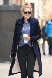 Gigi Hadid in Tights - Out in NYC, March 2015