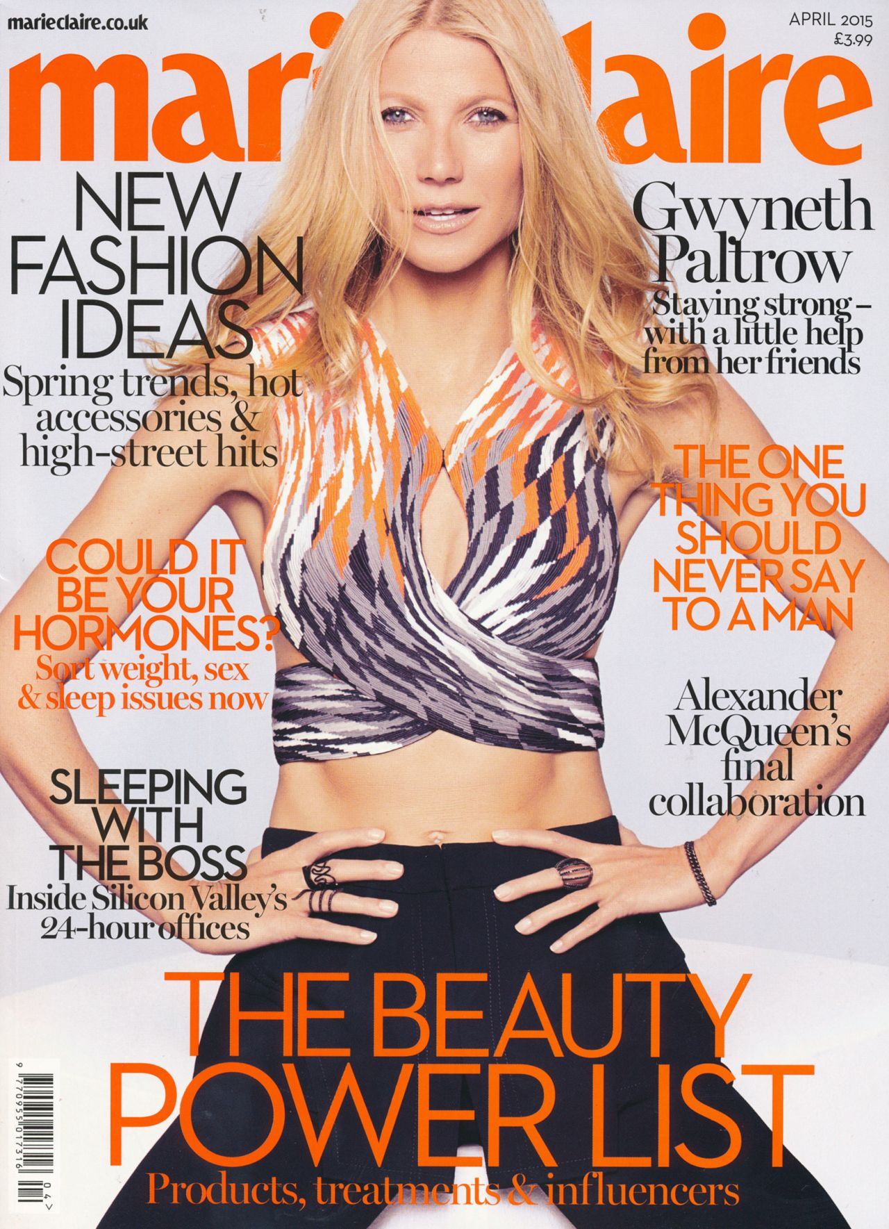 Gwyneth Paltrow - Marie Claire Magazine (UK) April 2015 Issue