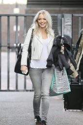 Hannah Spearritt Casual Style - Leaving the ITV Studios in London - March 2015