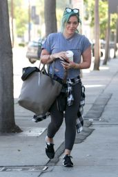 Hilary Duff - Heads to the Gym for a Morning Workout, March 2015
