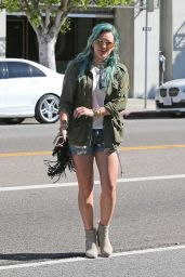 Hilary Duff in Shorts - Shopping in West Hollywood, March 2015