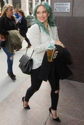 Hilary Duff Shows Off Her Style - Out in NYC, March 2015