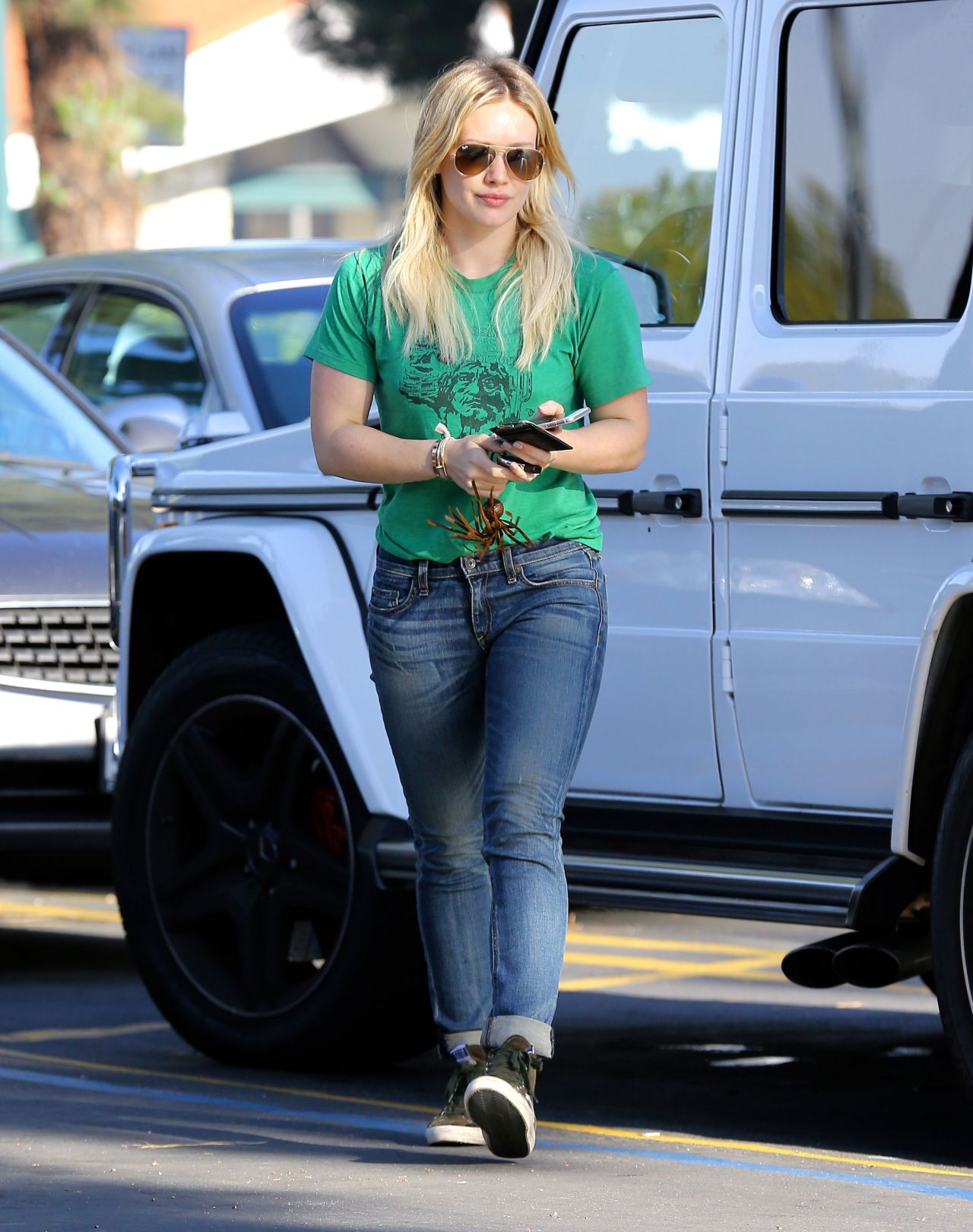 Hilary Duff Street Style - Out in Los Angeles, March 2015
