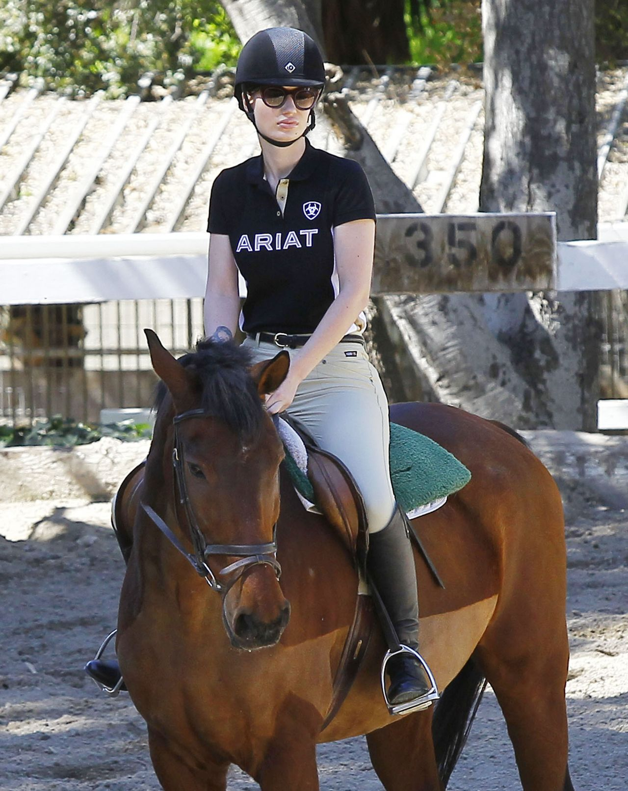 Iggy Azalea - Horseback Riding Lesson in Los Angeles, March 2015