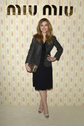Imogen Poots at Miu Miu Fashion Show in Paris, March 2015