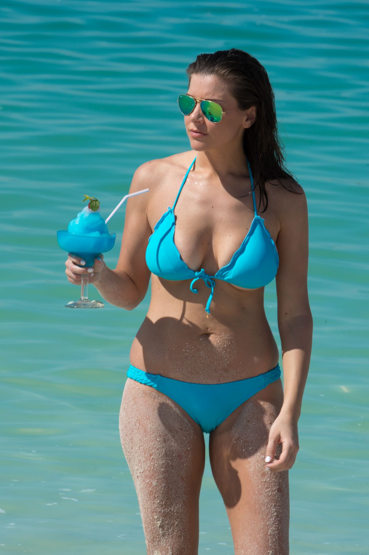 Imogen Thomas Bikini Photos - Miami, March 2015
