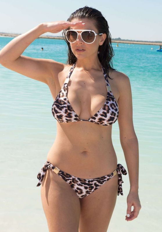 Imogen Thomas in a Bikini on Jumeirah Beach in Dubai, March 2015