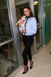 Irina Shayk - at the ASPCA Adoption Center in NYC