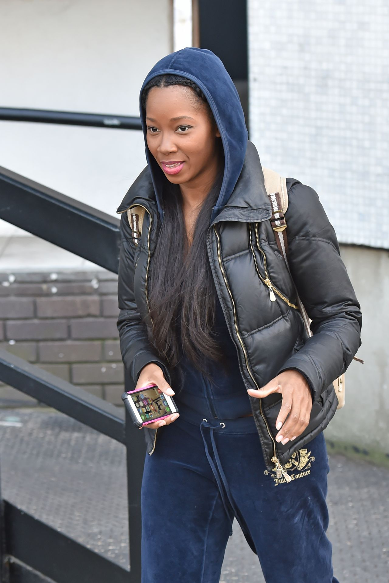Jamelia Street Style - Out in London - March 2015