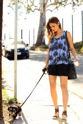Jamie Chung - Walking Her Dog in Los Angeles, March 2015