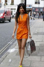 Jasmin Walia in Orange Jumpsuit - Out in Chelmsford, March 2015