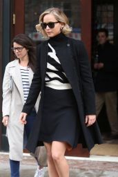 Jennifer Lawrence Style - Leaving Greenwich Hotel in New York City, March 2015