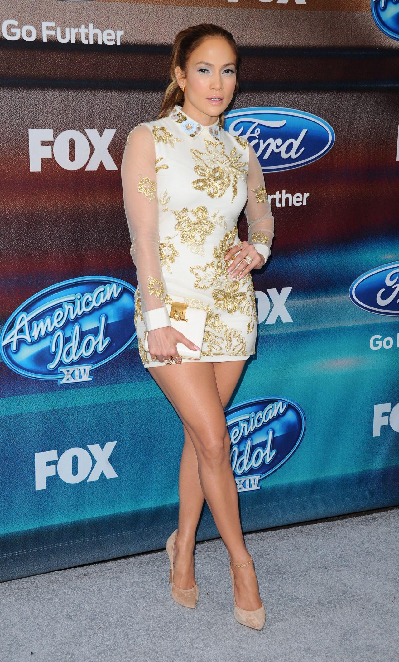 Jennifer Lopez Hot In Mini Dress - American Idol Xiv -1536