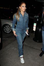 Jennifer Lopez Street Fashion - Arriving at Craig