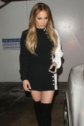 Jennifer Lopez Style - STK Steakhouse in Los Angeles, March 2015
