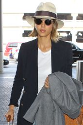 Jessica Alba at LAX Airport, March 2015