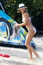 Jessica Alba in a Bikini in the Caribbean, March 2015