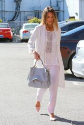 Jessica Alba Street Fashion - Going to Her Company in Santa Monica, March 2015