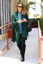Jessica Alba Street Fashion - Out in Santa Monica, March 2015