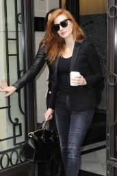 Jessica Chastain - Leaving The Royal Monceau Hotel in Paris, March 2015