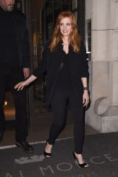 Jessica Chastain Style - Leaving a Hotel in Paris, March 2015