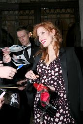 Jessica Chastain Style - Leaving Her Hotel in Paris, March 2015