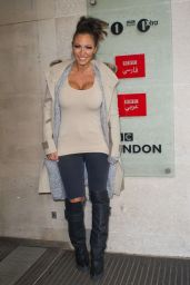 Jodie Marsh – Leaving the BBC Studios in London, March 2015