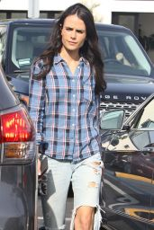 Jordana Brewster in Ripped Jeans - Whole Foods in Brentwood, March 2015