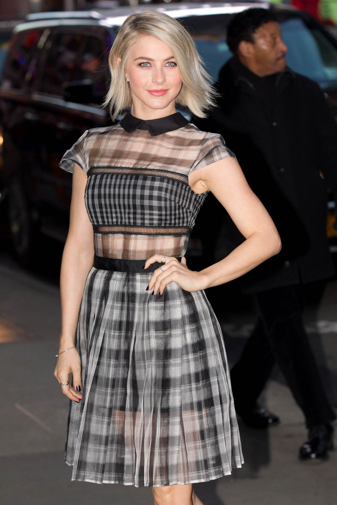 Julianne Hough Arriving to Appear on Good Morning America in New York City, March 2015