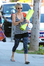 Kaley Cuoco in Leggings - Out in Brentwood, March 2015