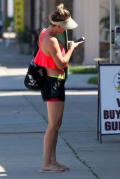 Kaley Cuoco in Shorts - Leaving Yoga Class in Sherman Oaks - March 2015