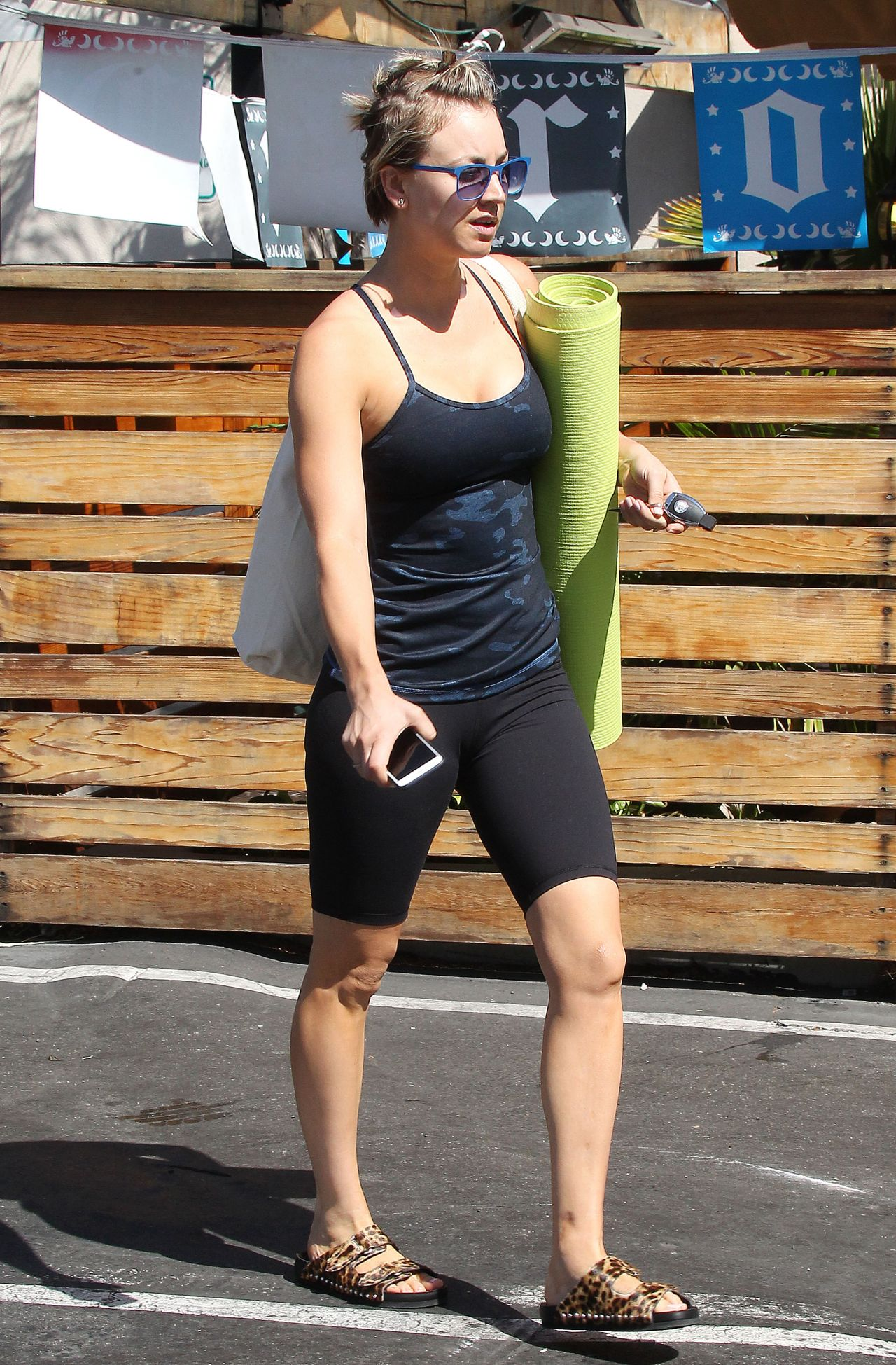 Kaley Cuoco Leaving Yoga Class In Sherman Oaks March 2015