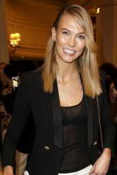 Karlie Kloss Casual Outfit - Balmain Fashion Show in Paris, March 2015