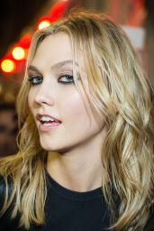 Karlie Kloss – Leaving Versace Fashion Show in Milan, February 2015