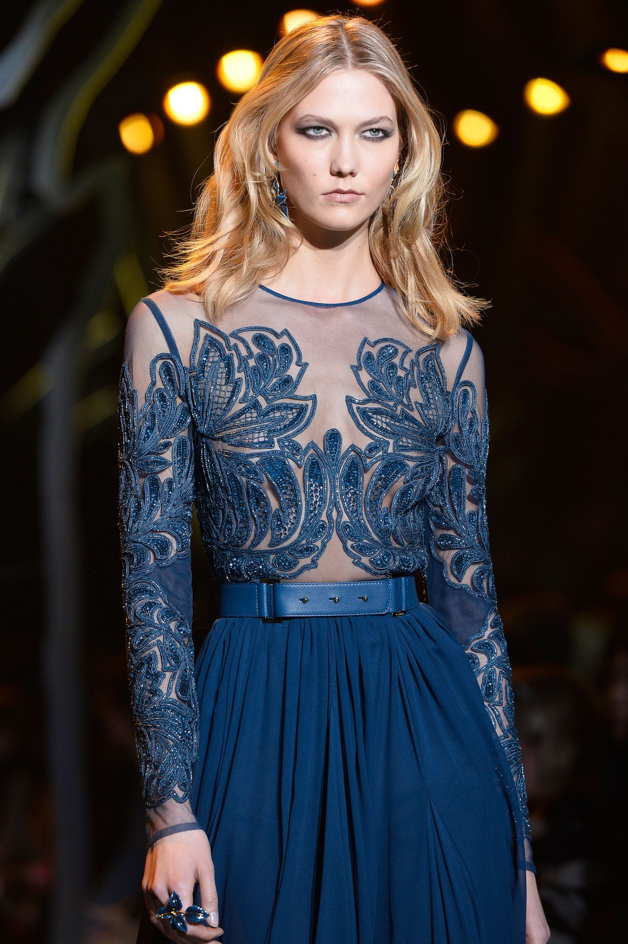 Karlie Kloss - Mugler Fashion Show in Paris, March 2015