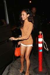 Karrueche Tran Night Out Style - Leaving Hooray Henry