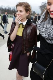 Kate Mara Style - Goes to Valentino Fashion Show in Paris - March 2015