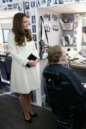 Kate Middleton - Ttouring the Set of
