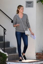 Kate Upton in Tight Jeans - Leaving an Office Building in Los Angeles, Feb. 2015