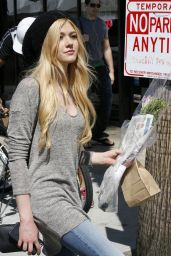 Katherine McNamara Street Style - at a Farmers Market in Studio City, March 2015