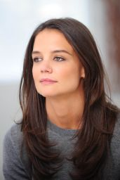 Katie Holmes - Shooting a Alterna Haircare Ad Campaign in Los Angeles, March 2015