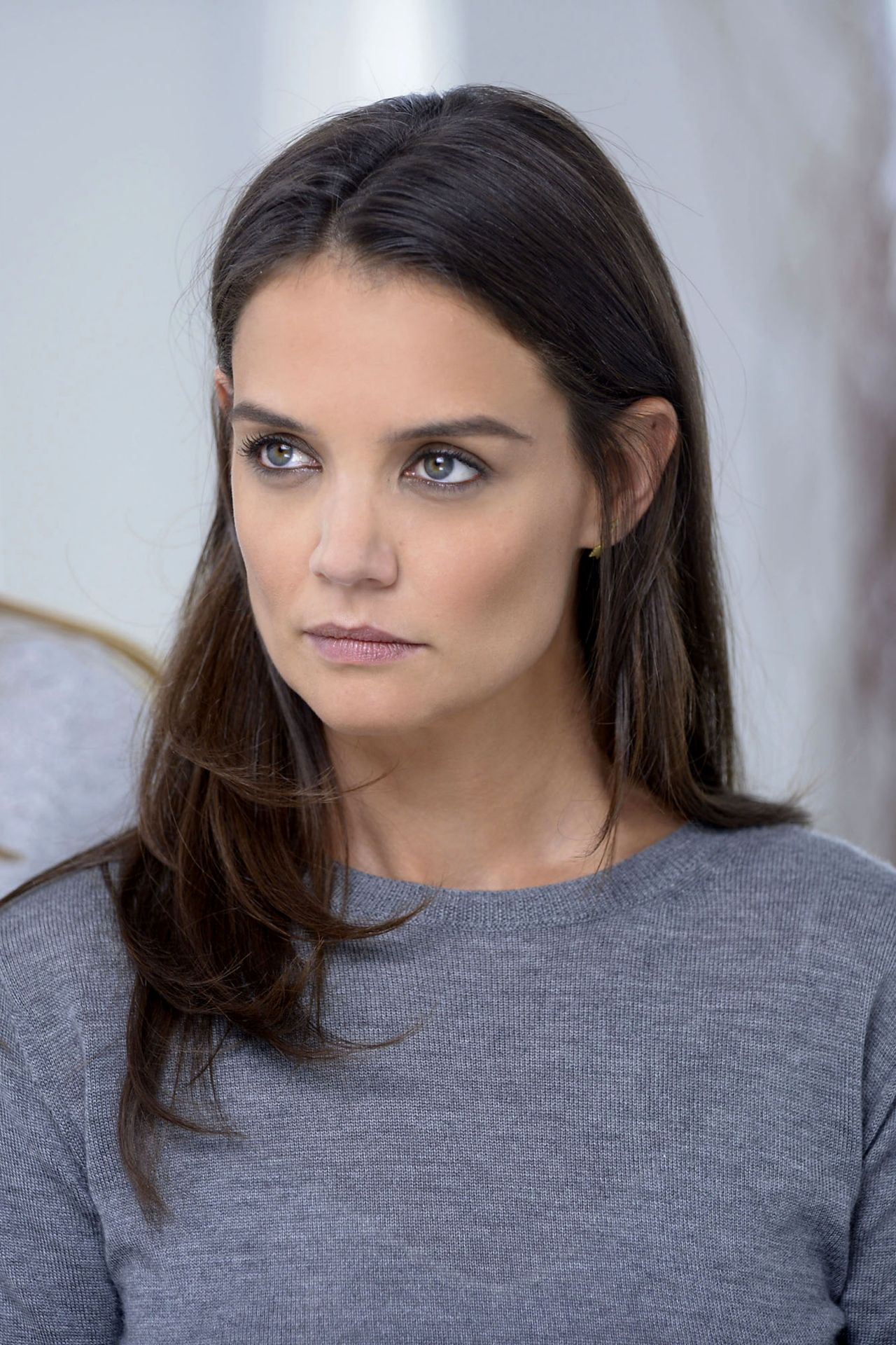 Katie Holmes - Shooting a Alterna Haircare Ad Campaign in Los Angeles ...