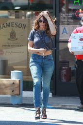 Kelly Brook in Jeans - Out and about in Los Angeles, March 2015