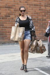 Kelly Brook in Jeans Shorts - at Bristol Farms in Los Angeles - March 2015