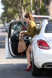 Kelly Brook Leggy in Mini Dress - Out in Santa Monica, March 2015