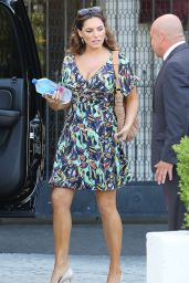 Kelly Brook Looks Very Summery in a Patterned Dress - West Hollywood, March 2015