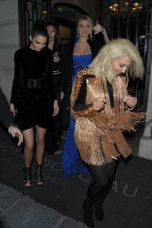 Kendall Jenner, Gigi Haidid & Kim Kardashian Night Out Style - Paris, March 2015