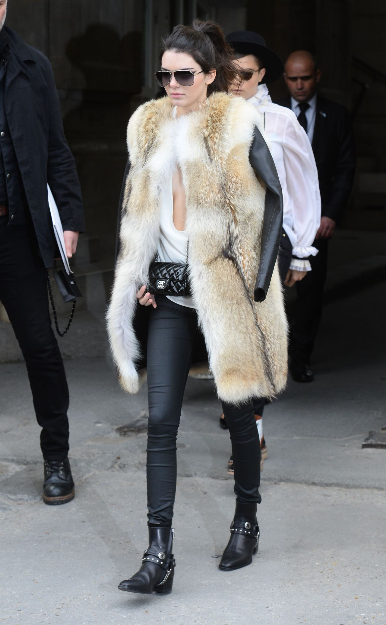 Kendall Jenner – Leaving a Chanel Fashion Show in Paris, March 2015