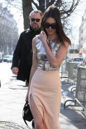 Kendall Jenner - Leaving Her Hotel With Friends in Paris, March 2015